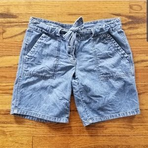 2 for $20 LOFT denim jean shorts tie waist size 4